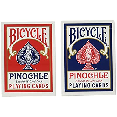 12 Decks Bicycle Pinochle Cards (6 Red / 6 Blue): Toys & Games