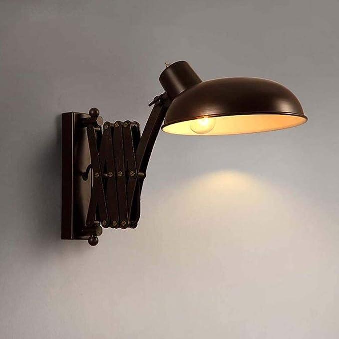 CMmin Lámpara de Pared con Iluminación Decorativa Luz de Pared Moderna, Aspecto Industrial Ajustable Pared Tarea de Lectura Multiuso lámpara Brazo Extensible de Tijera Extensible Lámpara de Pared LED