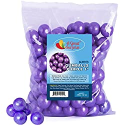 Gumballs in Bulk – Purple Gumballs for Candy Buffet – Gumballs 1 Inch – Bulk Candy 2 LB