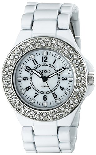 XOXO Women's XO133 Analog Display Analog Quartz White (Analog White Mop)