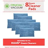 8 Highly Durable Washable Microfiber Steam Pads for HAAN Steam Mops & Floor Sanitizer; Compare to HAAN Part Nos. RMF2, RMF2P, RMF2X, RMF4X, RMF4, RMF-4; Designed & Engineered by Think Crucial