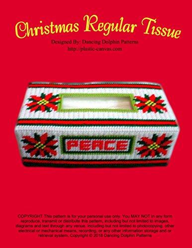 Christmas Regular Tissue Box Cover: Plastic Canvas Pattern (Box Plastic Pattern Canvas)