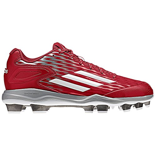 Adidas Poweralley Tre Tpu Mens Baseball Skor Röd / Wh