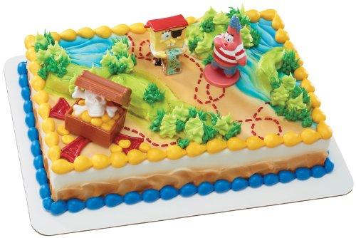 SpongeBob SquarePants Pirates Treasure Hunt DecoSet Cake Topper -
