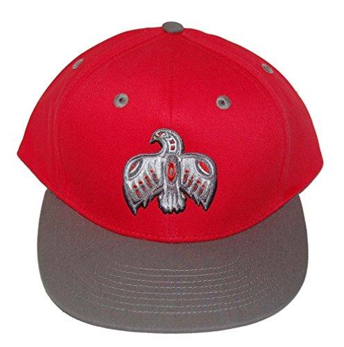 Aztec Bird Snapback Hat - Red & - Deadstock Sale
