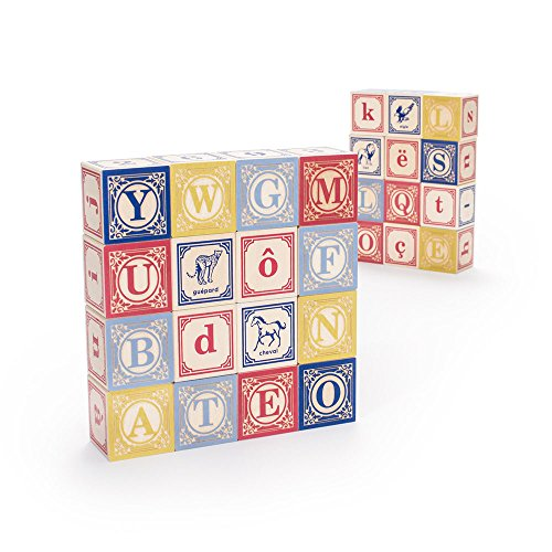 Uncle Goose French Blocks - Made in The USA (French Alphabet Blocks)