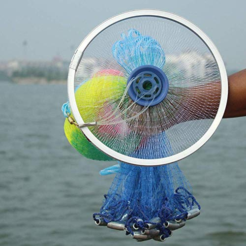 Net Fishing Disc Hand Throwing Nets Wear-Resistant Fishing Tools Bait Large Net Traps Collapsible Portable Lightweight Easy to Use