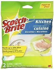Scotch-Brite Microfiber 2 Pack, Non Scratch
