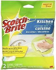 Scotch-Brite Microfiber Kitchen Cloth, 2 Pack, Non Scratch, Quick Dry