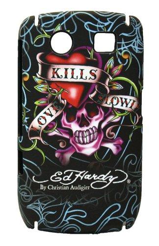 Ed Hardy Faceplate for BlackBerry Curve 8900 - Love Kills Slowly Tattoo - Black
