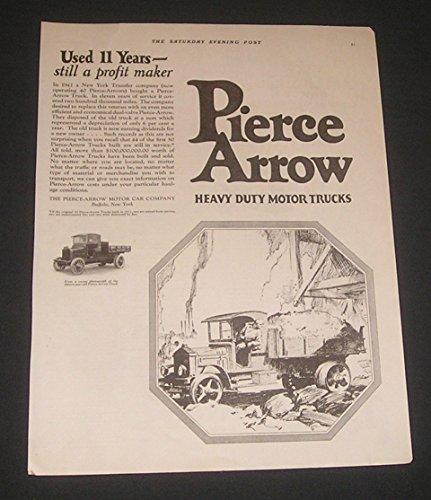 Pierce-Arrow Motor Car Co. 1923 PRINT AD The, Heavy Duty Motor Trucks, Buffalo, New York, Original Vintage Magazine Advertisement/Collectible Paper Ephemera (Pierce Arrow Buffalo)