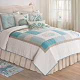 C&F Home 82139.10592 Saltwater Serenity Quilt, King, Tan