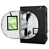 "24""x24""x36""Mylar Hydroponic Grow Tent with Obeservation Window and Floor Tray for Indoor Plant Growing 2'x2' (24""x24""x36"")"