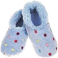 Snoozies Lotsa Dots - Pantuflas de forro polar para mujer con suela antideslizante suave