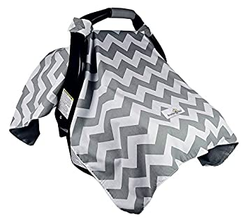 Amazon.com: Bonafide Baby Car Seat Cover, Chevron with Free Stroller