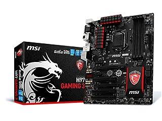 MSI ATX DDR3 2600 LGA 1150 Motherboards H97 Gaming 3 (B00K23BUJK) | Amazon price tracker / tracking, Amazon price history charts, Amazon price watches, Amazon price drop alerts