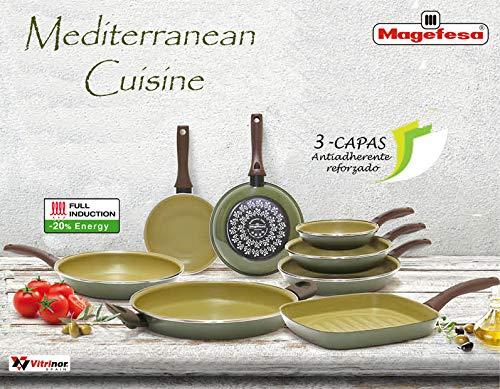 Magefesa Mediterranean Mediterrean Cuisine sarten 26 cm, Acero ...