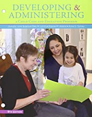 Emphasizing the director's responsibility as a leader of both people and programs in diverse communities, DEVELOPING AND ADMINISTERING A CHILD CARE AND EDUCATION PROGRAM, Ninth Edition, covers the business and interpersonal skills child devel...