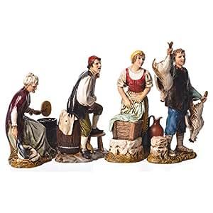 Figuras 4 profesiones bel n moranduzzo 12 cm hogar for Amazon figuras belen