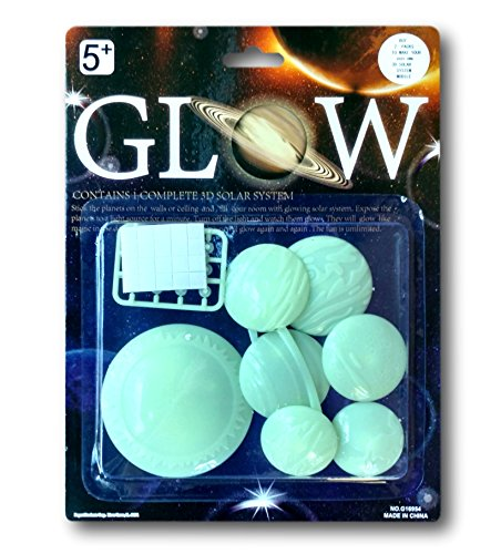 Glow In The Dark Solar System Stickers - 3