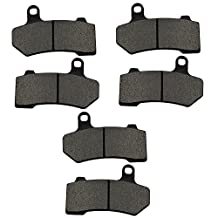 AHL Semi-metallic Front & Rear Brake Pads Set for Harley Davidson Touring FLHTCU Ultra Classic Electra Glide 2008-2014