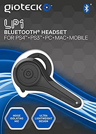 Gioteck - Headset Loop Bluetooth, Color Negro (PS4): not ...