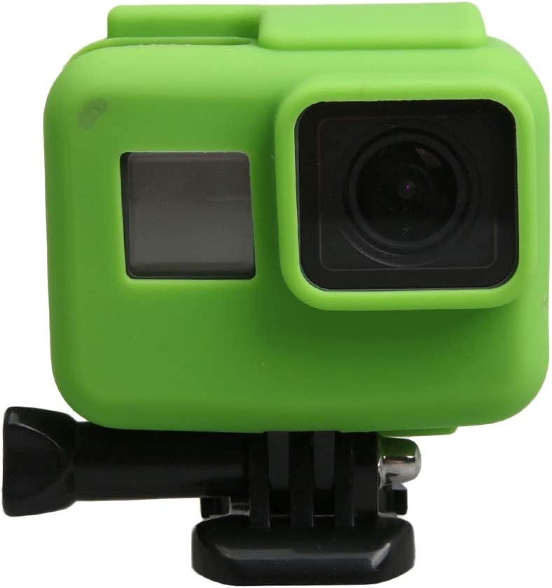 for GoPro HERO5 Silicone Border Frame Mount Housing Protective Case Cover Shell Durable Color : Green