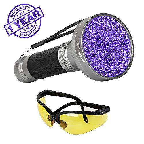 Blacklight Stain Detector - UV Black Light Flashlight, Super Bright 100 LED #1 Best Pet Dog Cat Urine Detector light Flashlight for Urine Stains, 395nm UV Blacklight Flashlight for Bed Bugs Scorpions, Home Hotel Detection