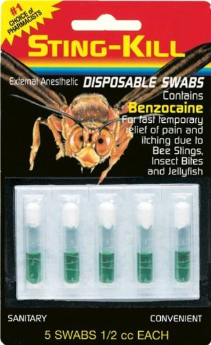 Sting-Kill Disposable Swabs – 5 Ea, Health Care Stuffs