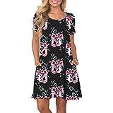KORSIS Women's Summer Floral Dresses Short...
