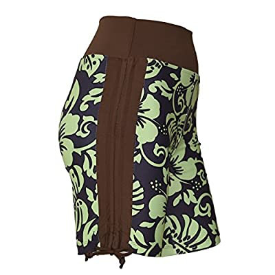 Private Island Women Side Tied Plus Size UPF 50+ Swim Board Shorts Rash Gaurd: Clothing