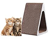 Morezi 3-Sided Vertical Cat Scratcher Post - Different Cardboard Scratching Triangle Kitty Scratch Pad Pet Scratcher Cardboard Lounge Bed Kitties Toys