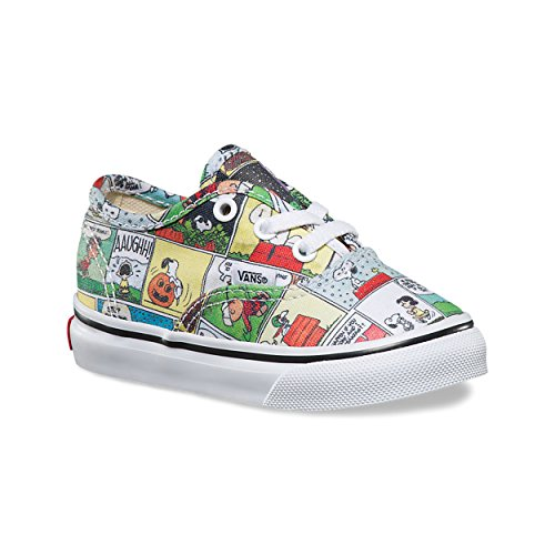 Vans Toddlers X Peanuts Authentic Comics/Black/True White VN0A38E7QQ2 Size 6