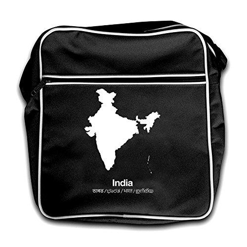 Flight India Silhouette Retro Bag Red Black 77UEP1Rqzw