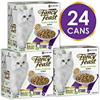 Fancy Feast Poultry Mix Wet Cat Food, 24 Can, 24X85g