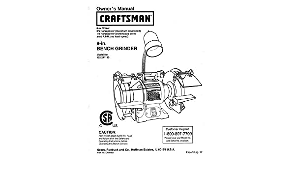 Admirable Craftsman 152 241180 Bench Grinder Owners Instruction Manual Lamtechconsult Wood Chair Design Ideas Lamtechconsultcom