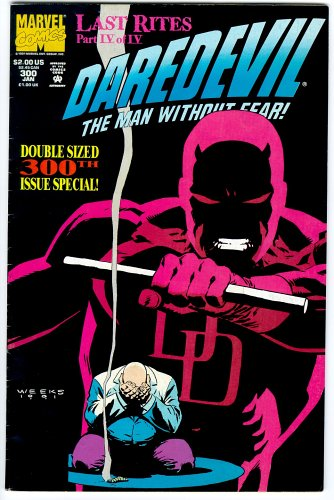 Daredevil Comic #300 The Man Without Fear (The Man Without Fear)