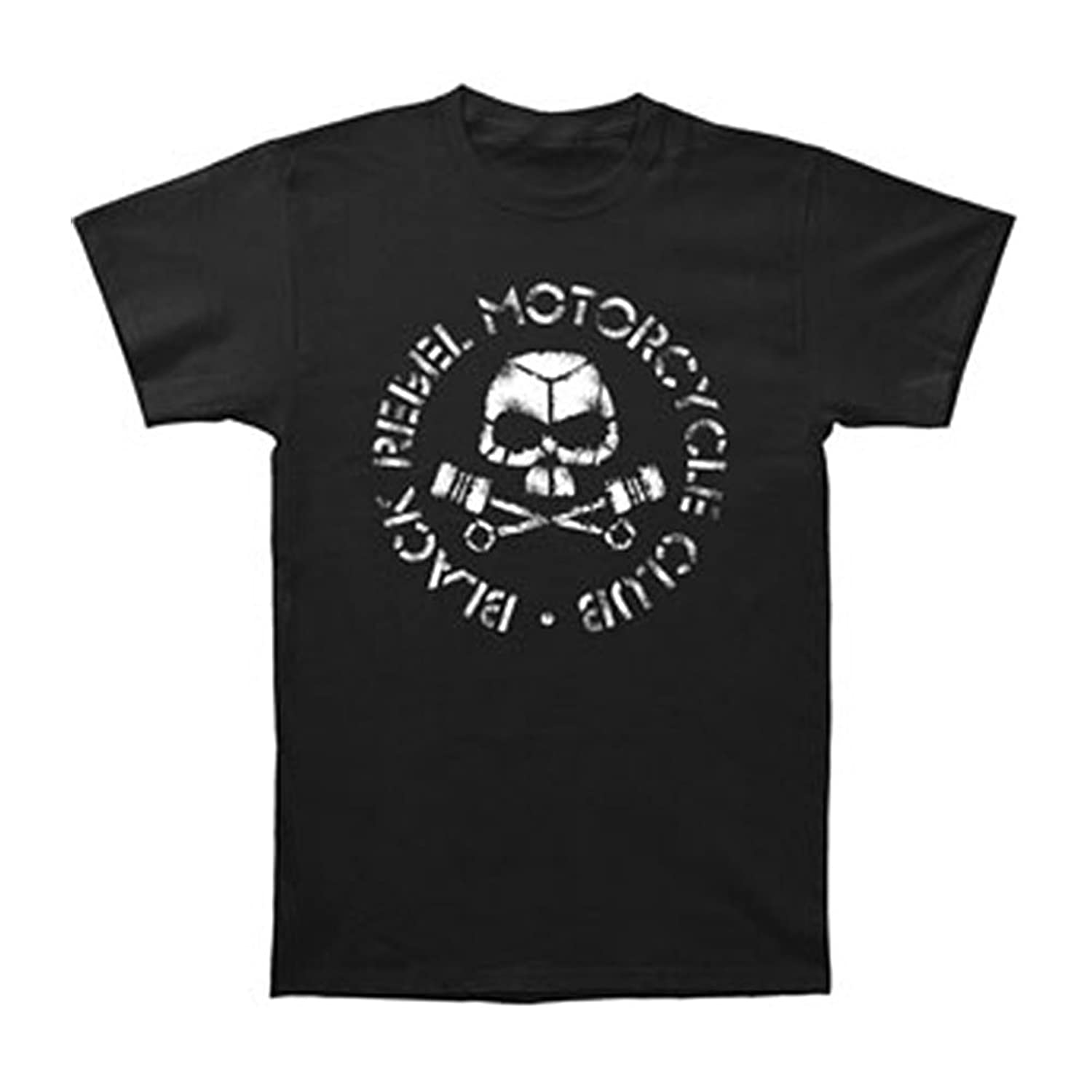 T shirt black rebel motorcycle club - Licensed Black Rebel Motorcycle Club Brmc Skull Piston Slim Fit T Shirt S Xl New Amazon Com