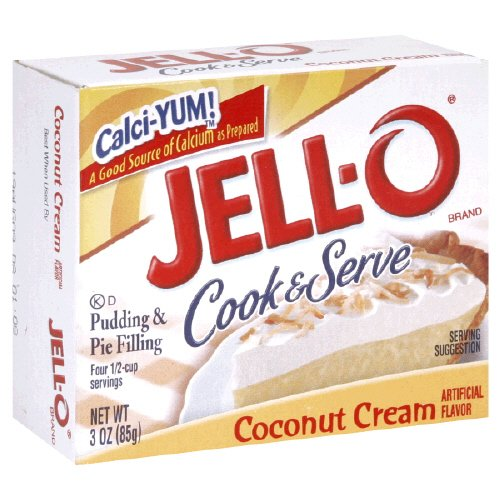 Jell-o Cook & Serve Pudding & Pie Filling Coconut Cream 3 Oz 12 Packs