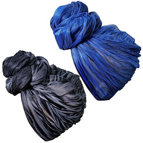 Stretch Head Wrap - Long Black Head Wrap Turban Hair Scarf Tie Color 1pcs - Headwrap Womens