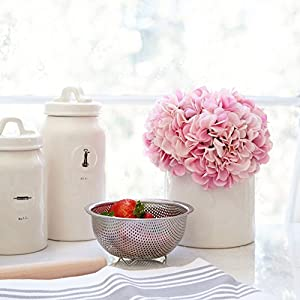 Butterfly Craze Artificial Hydrangea Silk Flowers for Wedding Bouquet, Flower Arrangements - Pink Color, 5 Stems per Bundle 5
