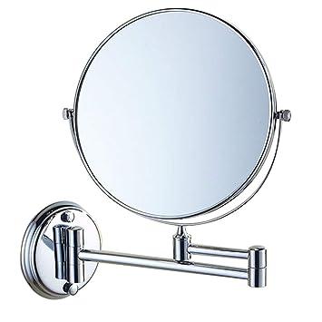 Amazon.com: LQY Espejo plegable, lupa de doble cara, espejo ...