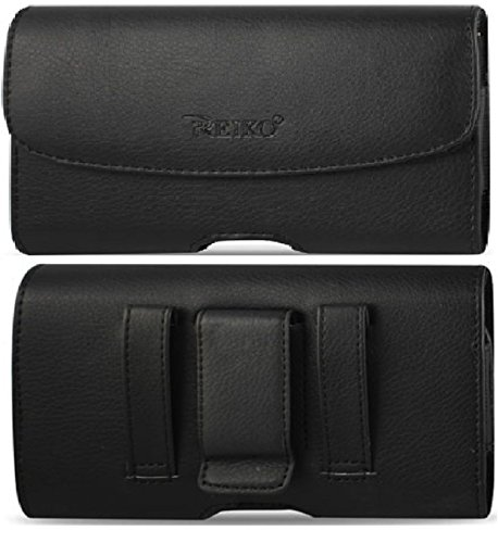 Iii Leather (Samsung Galaxy Note 3 Note III N9000 (All Carriers) Premium Leather Pouch Carrying Case With Belt Clip / Belt Loops Holster (Color - Black, Fits Samsung Galaxy Note 3 with a thin cover on) + Stylus Pen)
