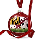 Christmas Decoration Soccer Team Flag Maryland region America (USA) Ornament