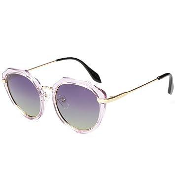 GAOLIXIA Redondo Gafas de Sol polarizadas Mujer Hombre Retro ...