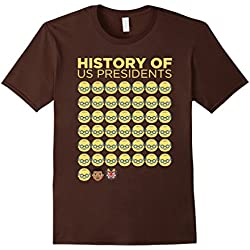 Mens Funny Anti Trump resist gift shirt for women and men Large Brown