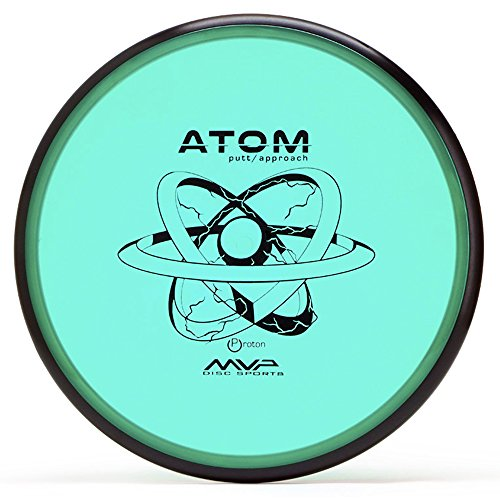 MVP Disc Sports Proton Atom Disc Golf Putter (170-175g / Colors May - Golf Putter Disc