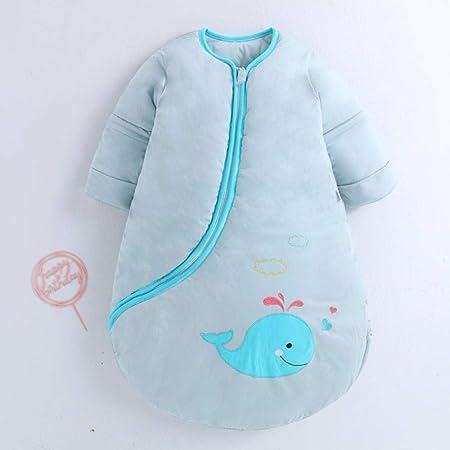WTFYSYN Saco de Dormir Bebe Verano y 4 Estaciones Recien Nacido,Saco de Dormir para el hogar cálido para bebés, Saco de Dormir para niños Antideslizante de algodón-M (Longitud 80 cm) _Azul: Amazon.es: