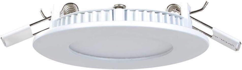 [10 Stück] MIWOOHO LED Einbauleuchten Spots 9W Ultraslim Slim LED Panel Einbaustrahler Einbauleuchte Deckenleuchte Deckenlampe Einbau Lampe Ultra Flach Spot Rund (9W Kaltweiß) 9w Warmweiß