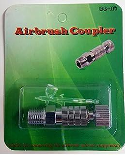 Airbrush Schnellkupplung NW2,7 Schraubtülle Schlauch 4x6 mm Kompressor Pistole